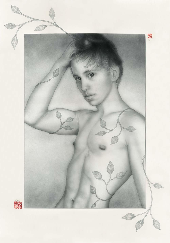 Faun - Grafik Airbrush Zeichnung von Mario Wolf