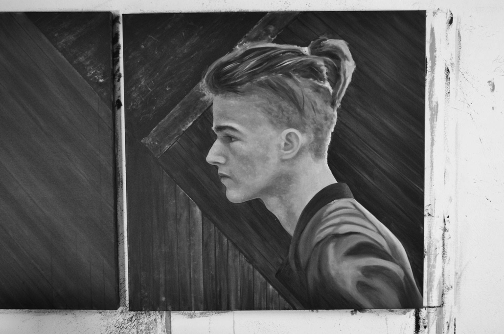 03 Entstehung Feindbild - Gesicht malen