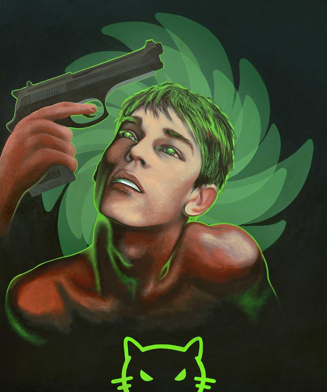 Toxoplasma Gondii - Gemälde vom Künstler Mario Wolf