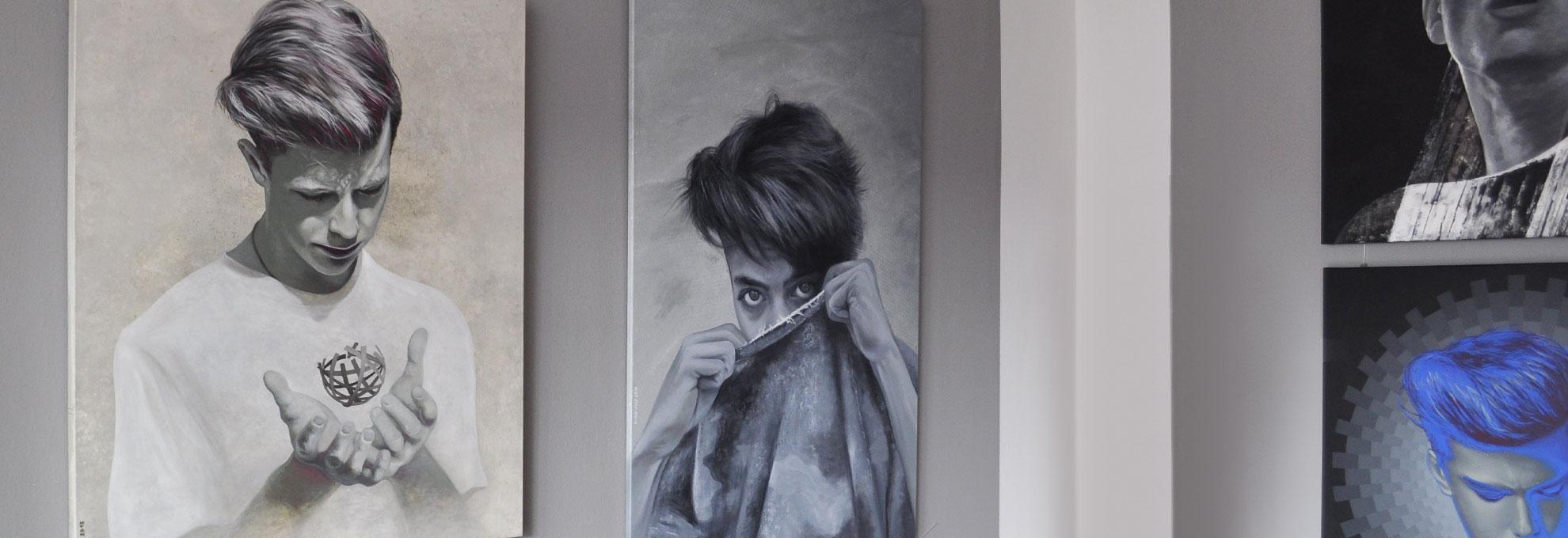 Ausstellung - Mario Wolf Face To Face - Kunstbanane Nürnberg - 2019