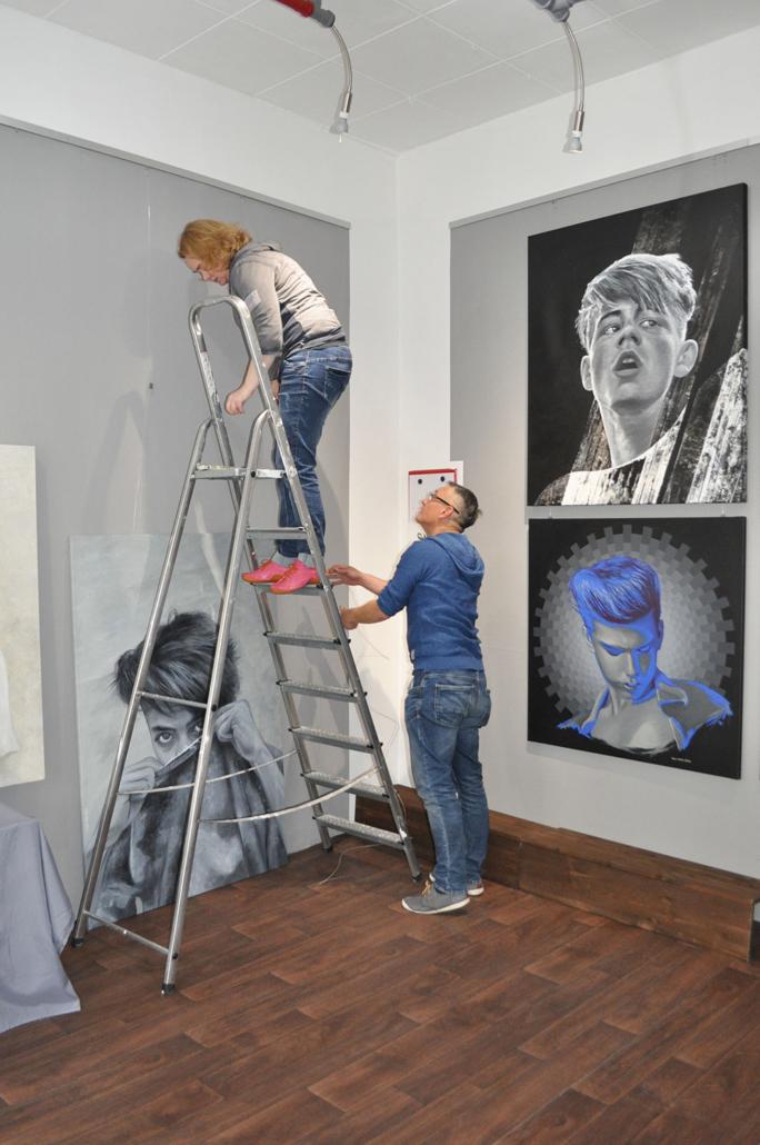 Ausstellung - Mario Wolf - Face-To-Face - Kunstbanane Nürnberg 2019
