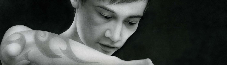 Content with blood - Kunst Grafi Airbrush Bild