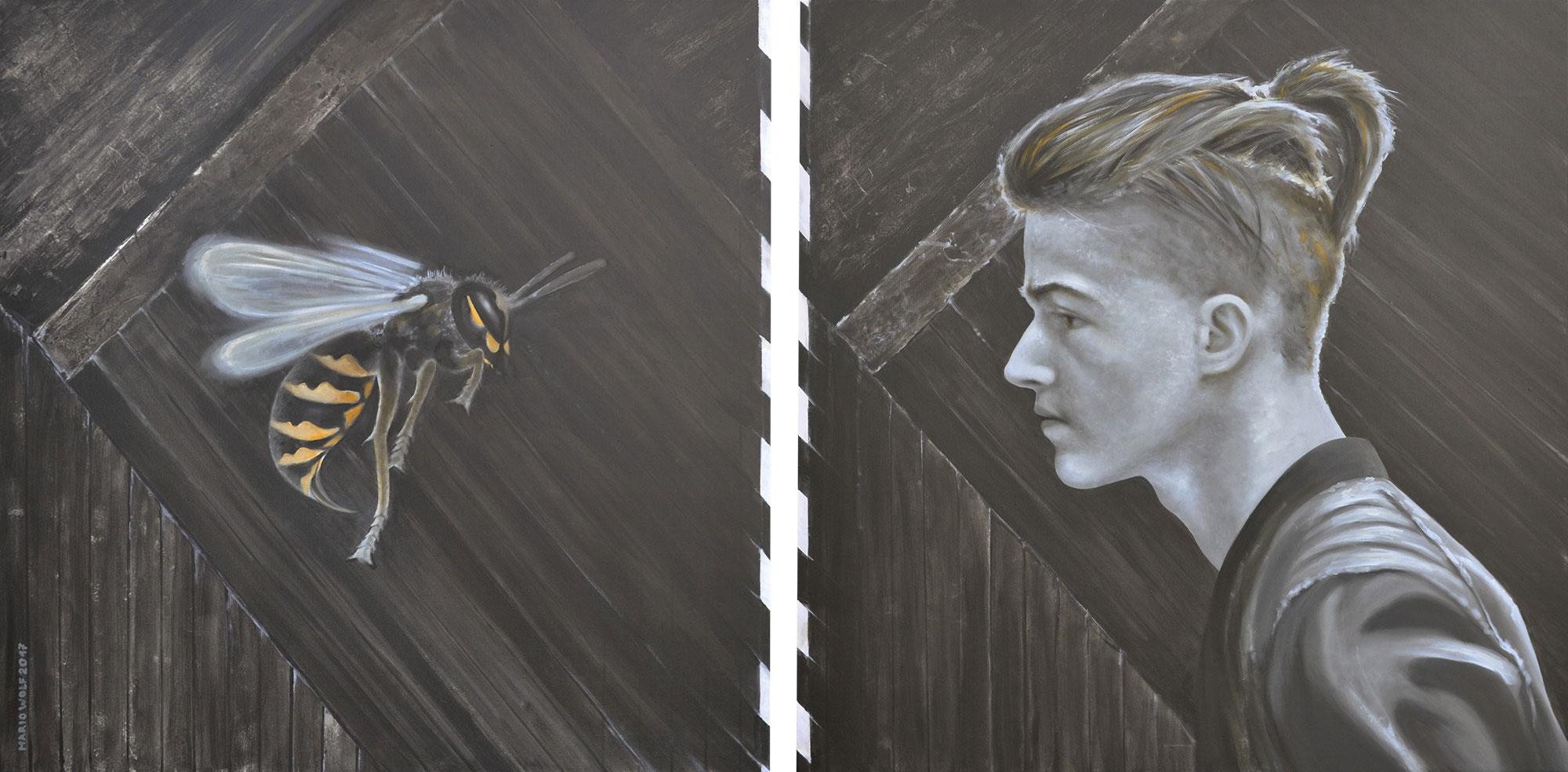 Feindbild - Gemälde vom Künstler Mario Wolf
