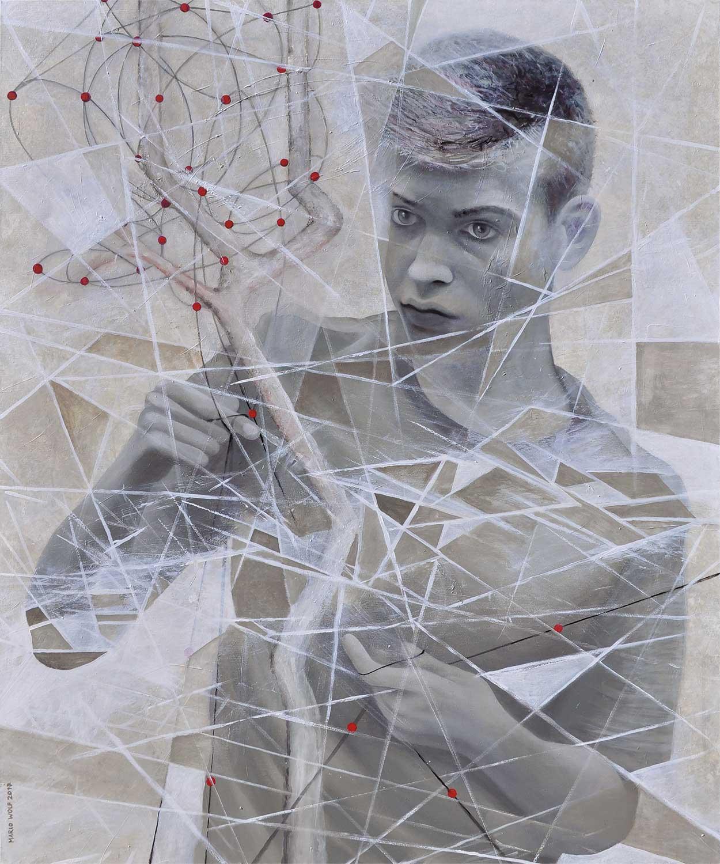 Gespinst - Gemälde von Mario Wolf 2017