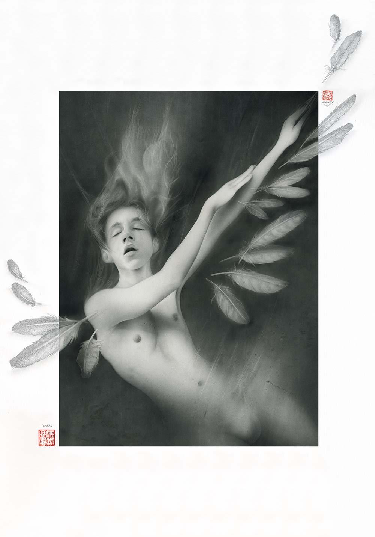 Ikarus - Grafik Airbrush - Mario Wolf