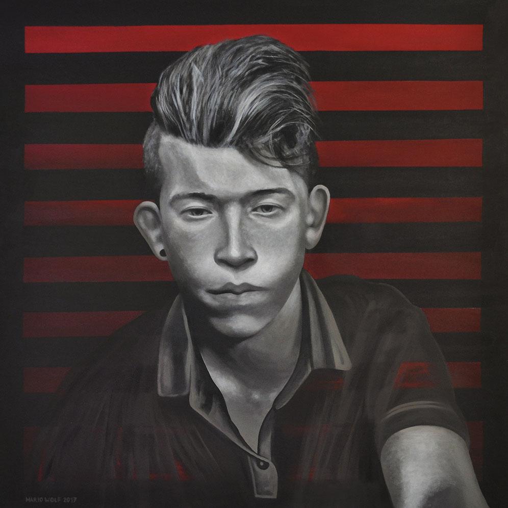 In Anbetracht - Gemälde von Mario Wolf