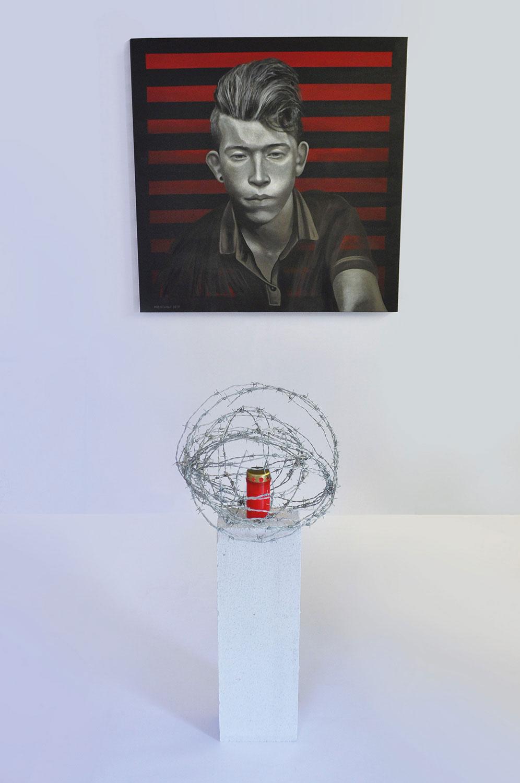 In Anbetracht - Gemälde und Installation - Kunst