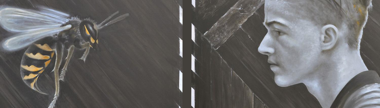 Kunst - Feindbild - Gemälde Öl auf Leinwand
