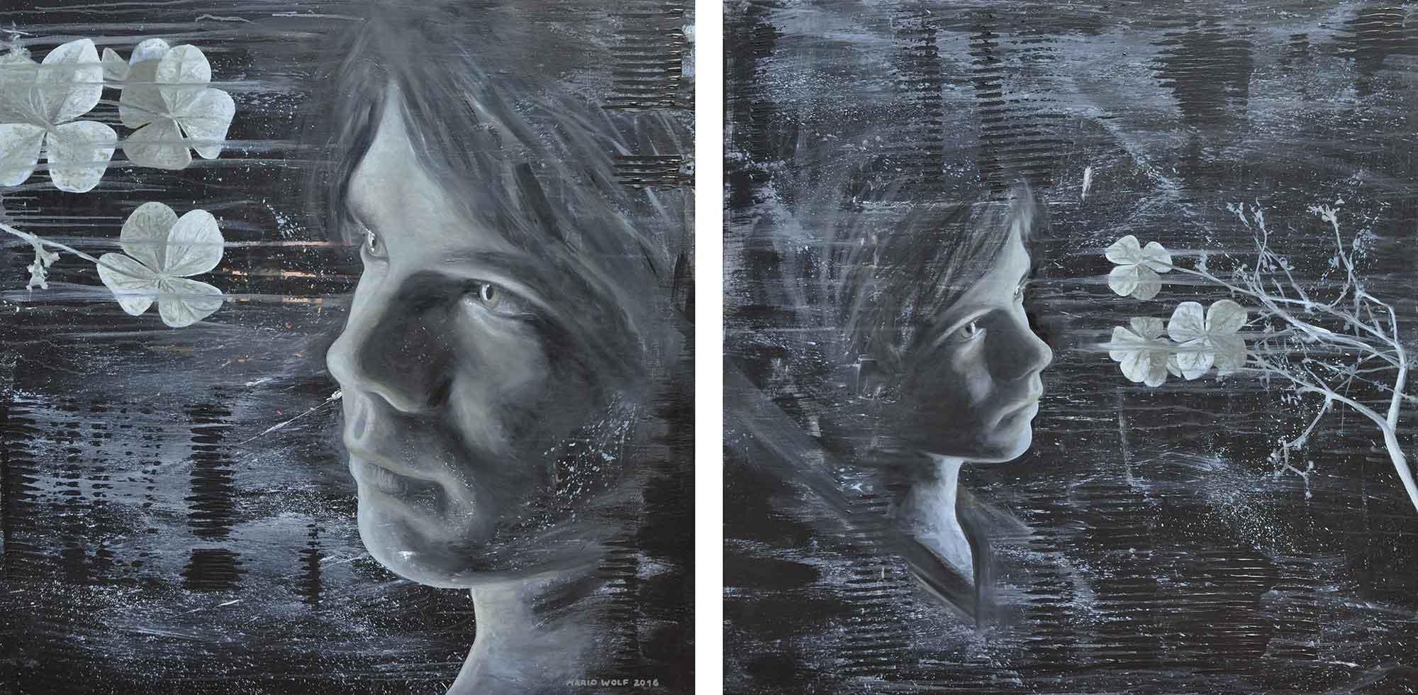 Kunst, Malerei - sehenden Auges - Künstler Mario Wolf
