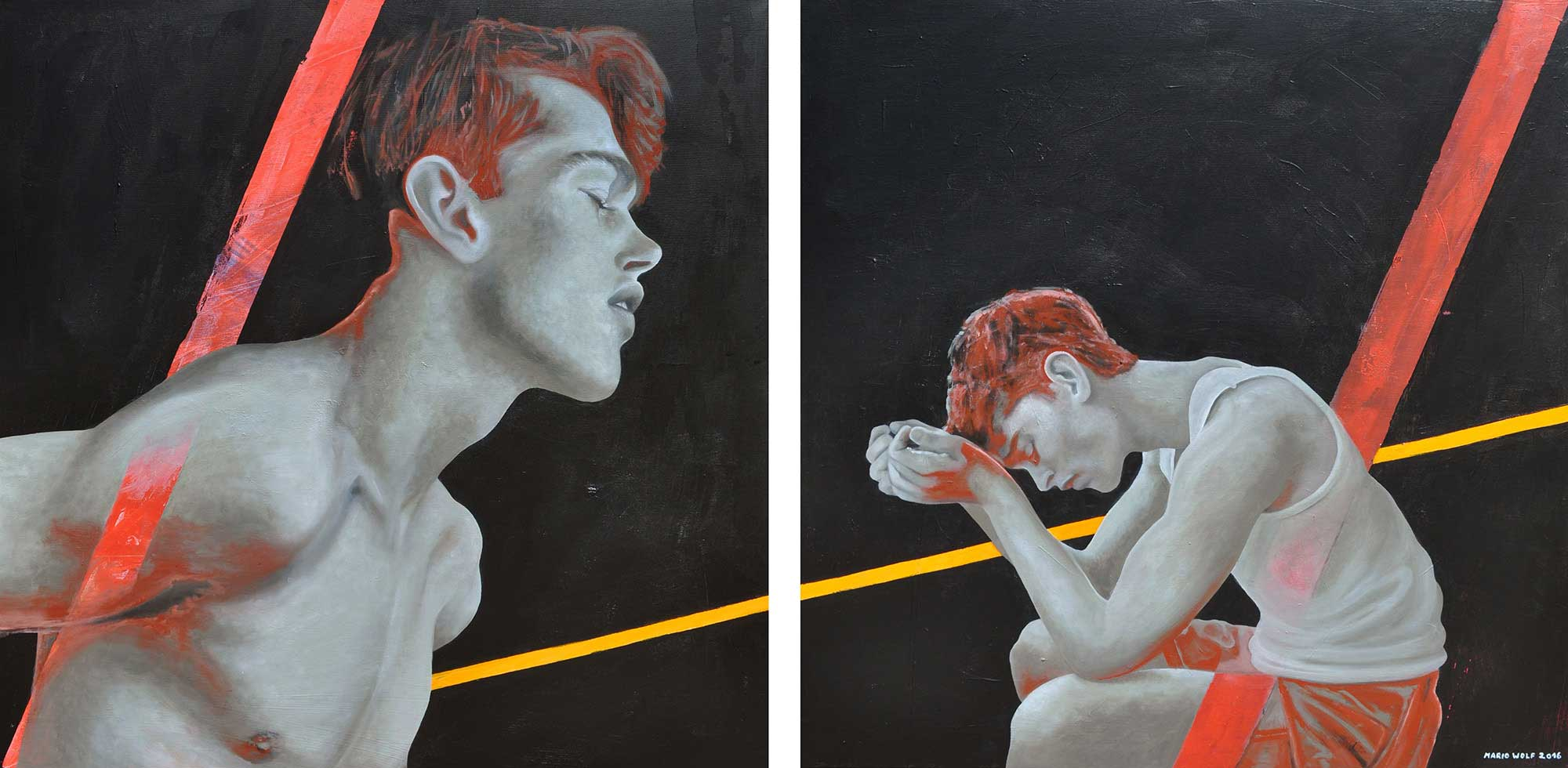 Schieflage - Kunst vom Künstler Mario Wolf