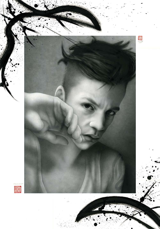 Teeanage Angst - Airbrush Zeichnung von Mario Wolf