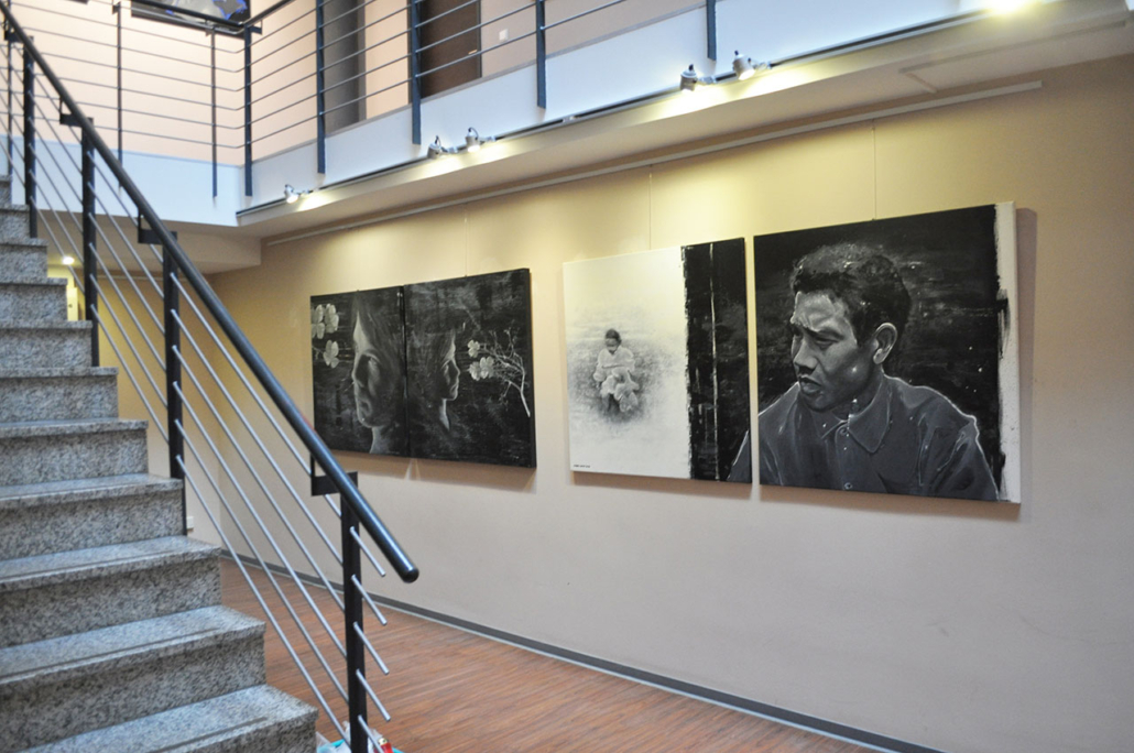Vernissage - Mario Wolf Ausstellung Menschenbilder - Villa Najork Leipzig 2017