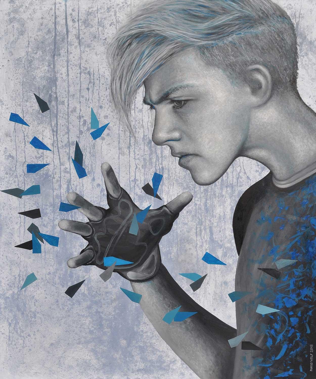 Windhauch - Gemälde Mario Wolf 2018