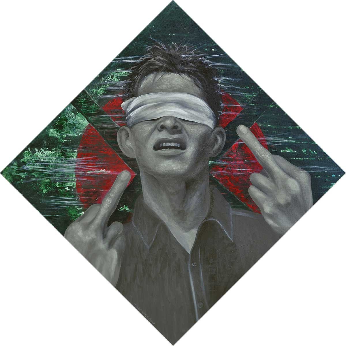 Wut frisst Hirn - gesellschaftslritische Kunst