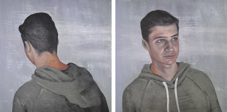 fünfzehn - Malerei, Portrait, Kunst