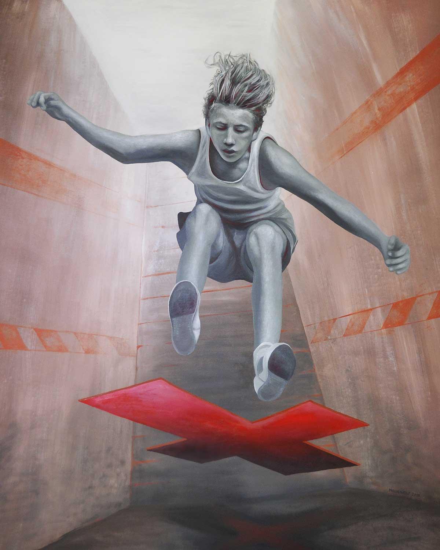 temporär - Gemälde von Mario Wolf - Künstler
